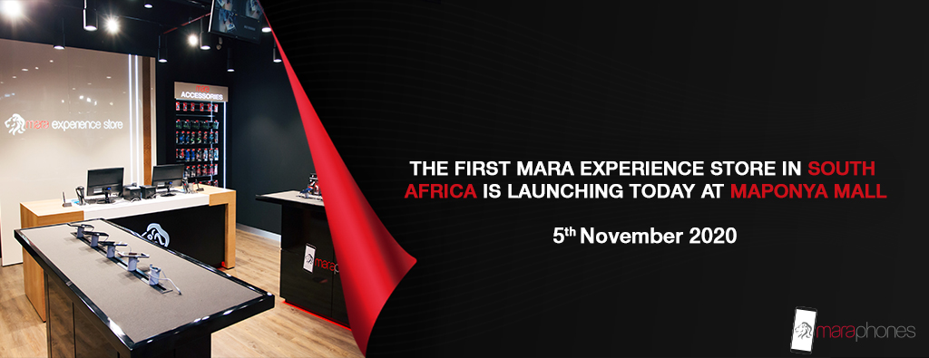 The first Mara Experience Store in South Africa is launching today at Maponya Mall 5th November 2020